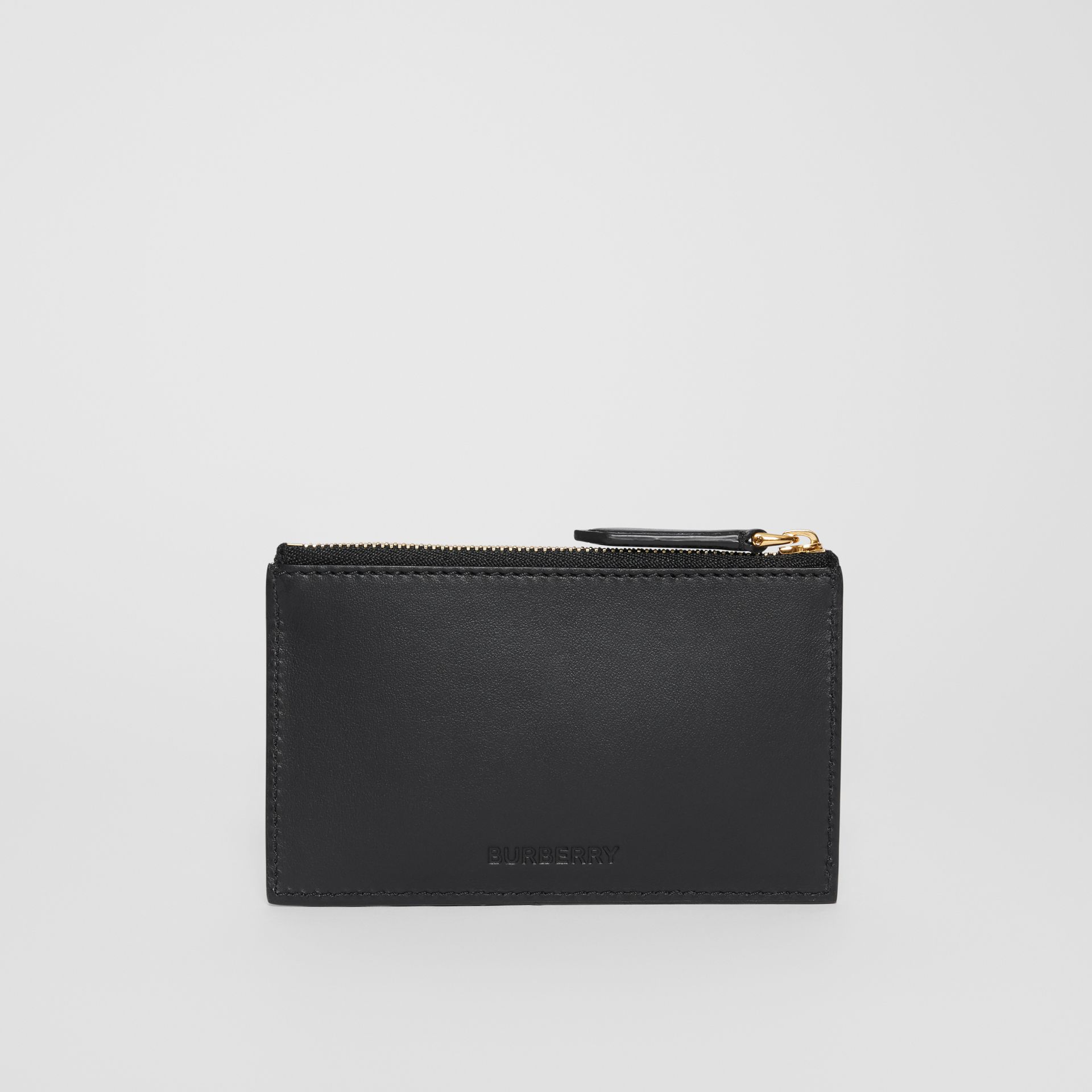 Horseferry Print Leather Zip Card Case in Black - Men | Burberry Australia - gallery image 4