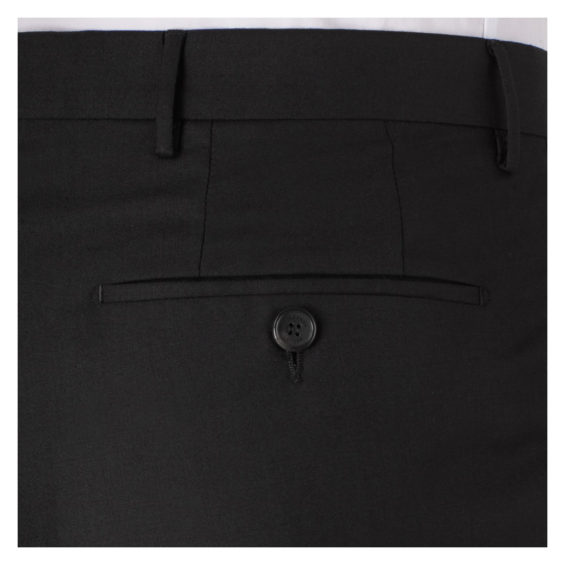 Black Modern Fit Wool Trousers Black - gallery image 2
