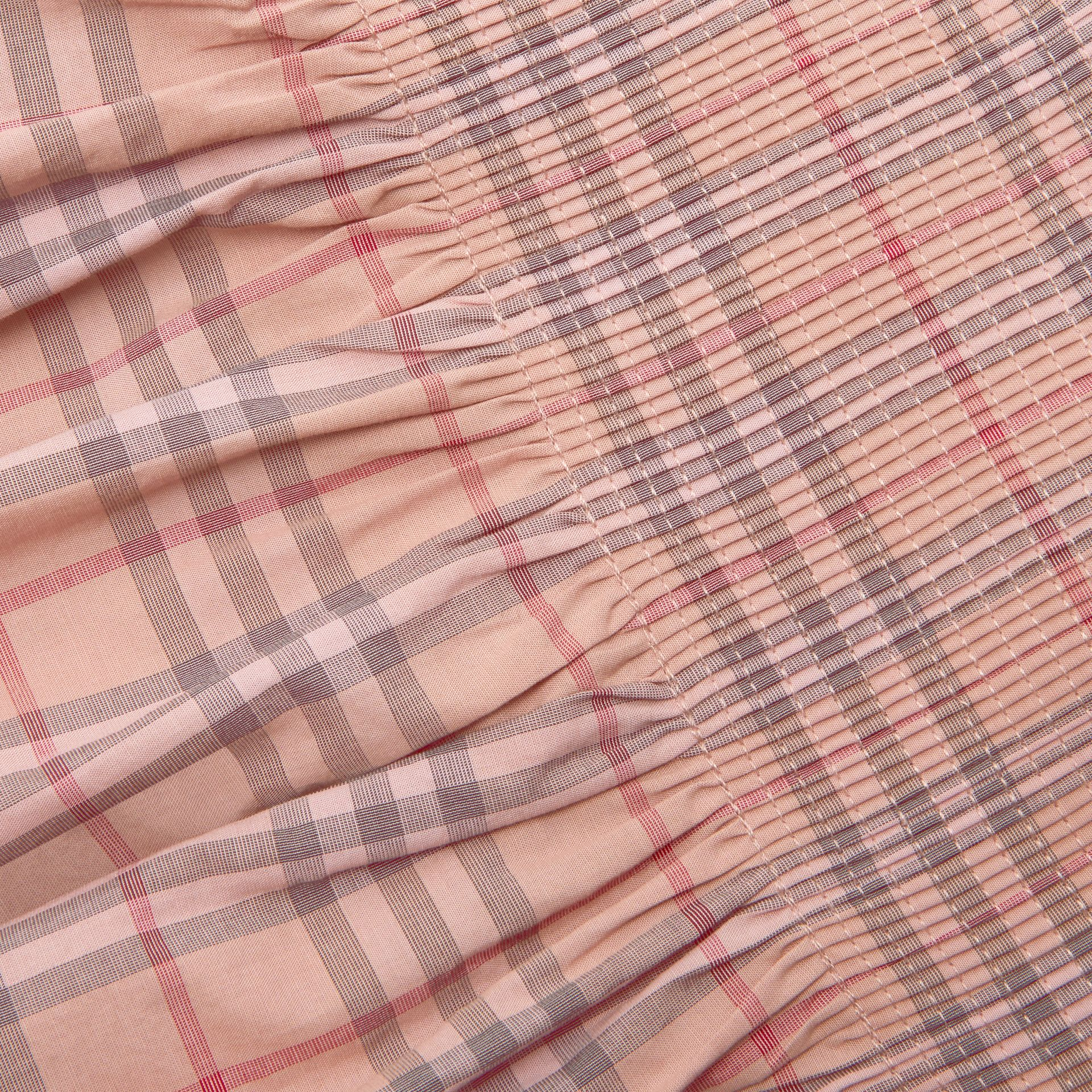 Robe en popeline de coton à motif check (Rose Pâle) | Burberry - photo de la galerie 1