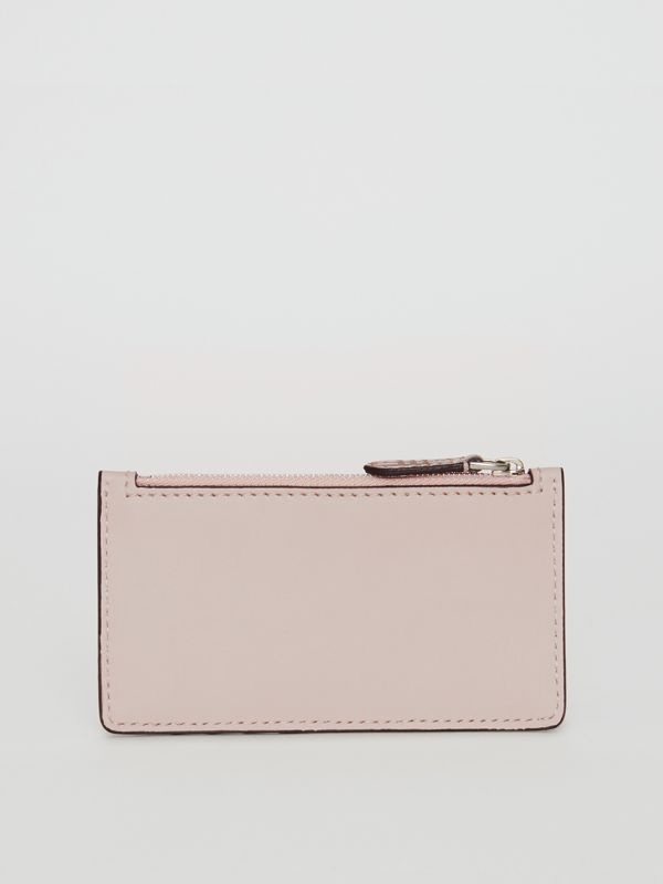 Small Scale Check and Leather Card Case in Pink - Women | Burberry - cell image 2