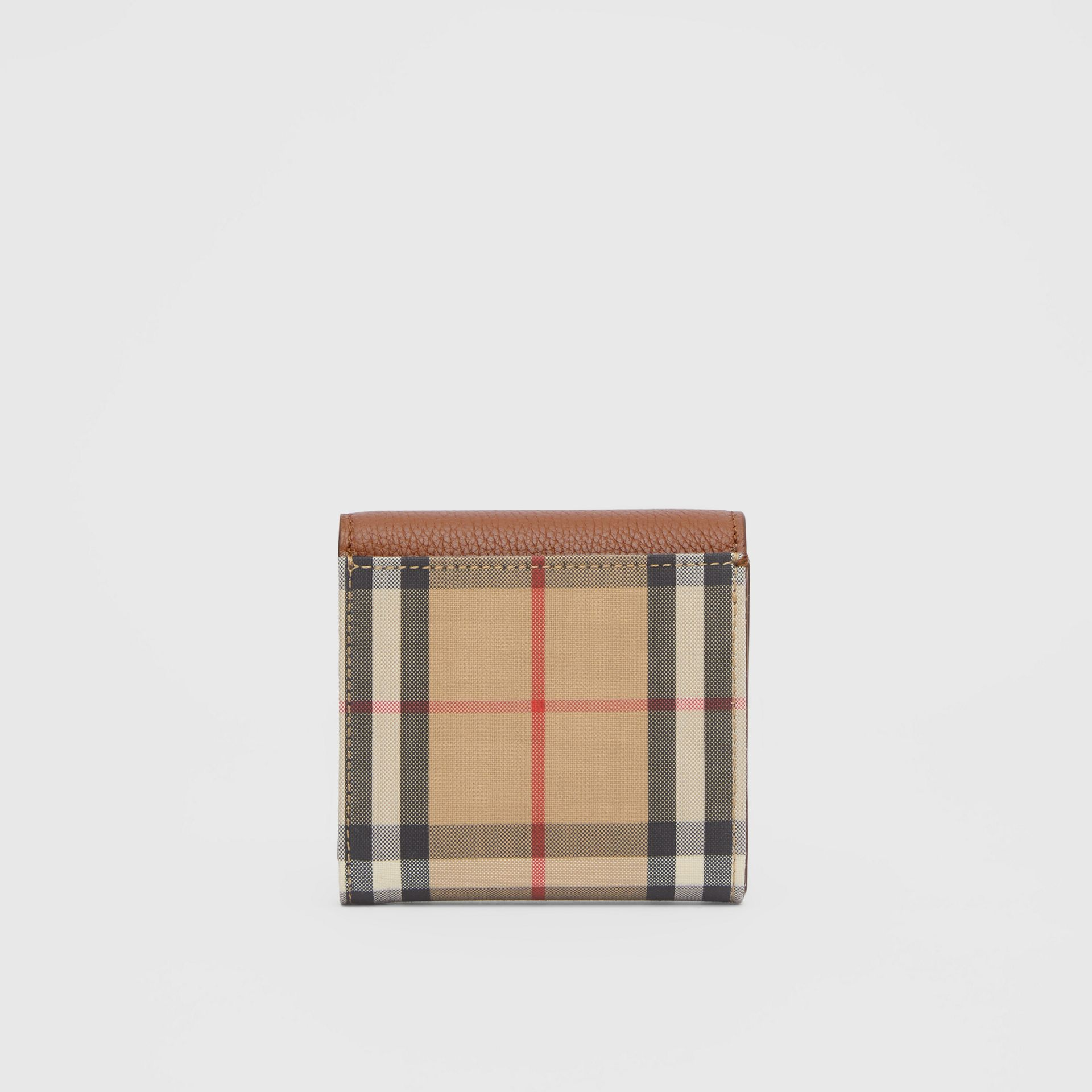 Vintage Check and Grainy Leather Folding Wallet in Tan - Women | Burberry - gallery image 4