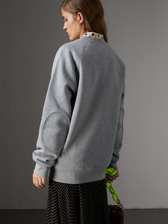 Creature Motif Jersey Sweatshirt in Pale Grey Melange - Women | Burberry United States - cell image 2