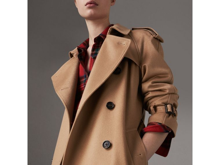 Cashmere Trench Coat in Camel - Women | Burberry - cell image 4