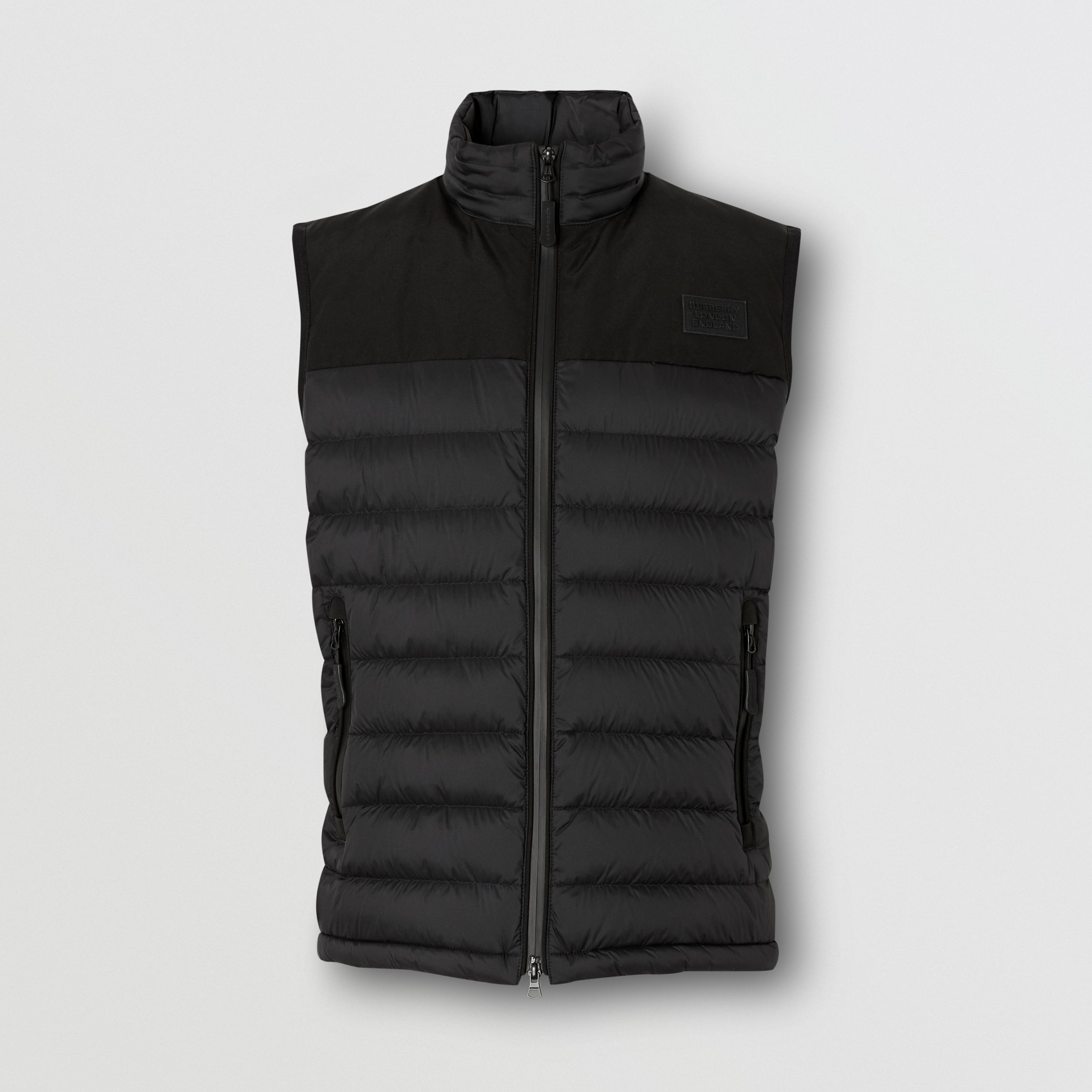 Logo Appliqué Lightweight Puffer Gilet in Black - Men | Burberry - 4