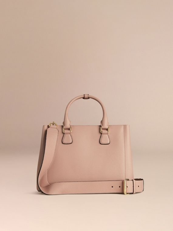 Pale orchid The Medium Saddle Bag in Grainy Bonded Leather Pale Orchid - cell image 3