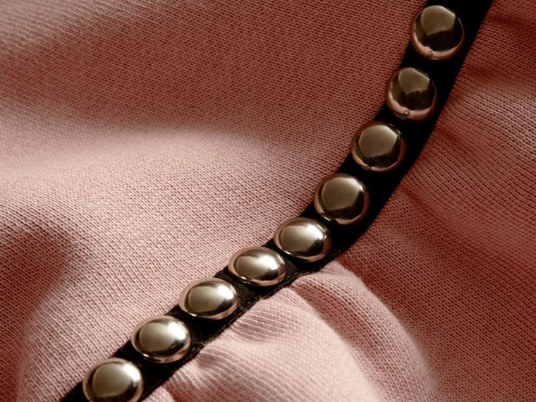Dusty pink Bell-sleeved Cotton Blend Sweatshirt - cell image 1