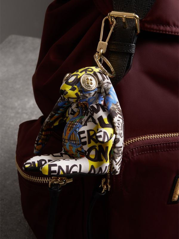 Vera The Hare Graffiti Print Cotton Charm in Yellow | Burberry - cell image 2