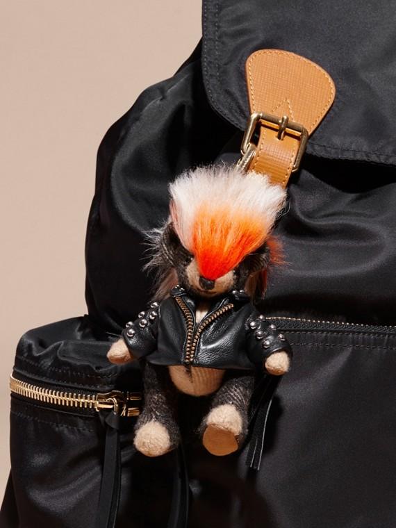 The Punk Thomas Bear Charm with Fringed Lambskin Jacket - cell image 2