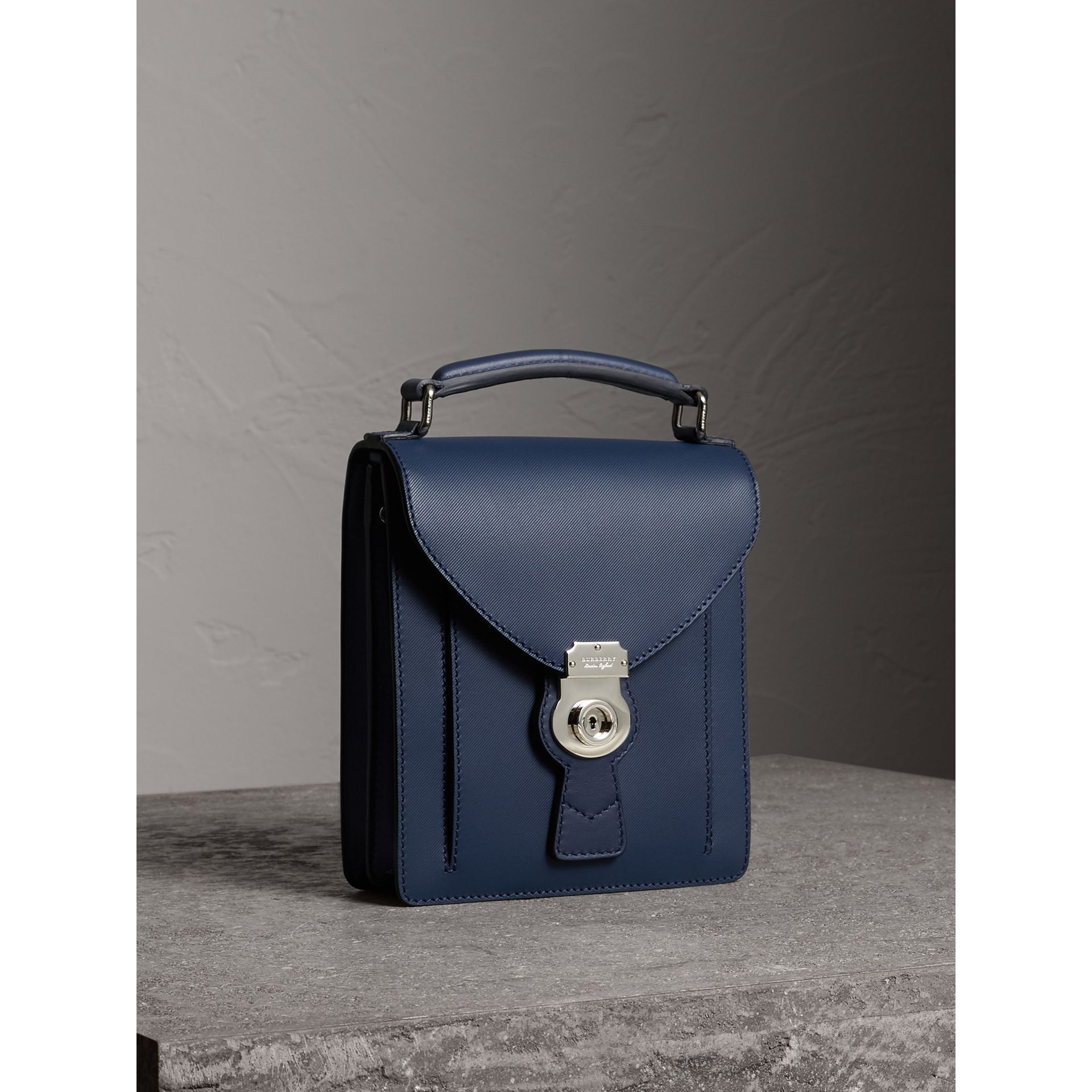 The Small DK88 Satchel in Ink Blue - Men | Burberry - gallery image 7