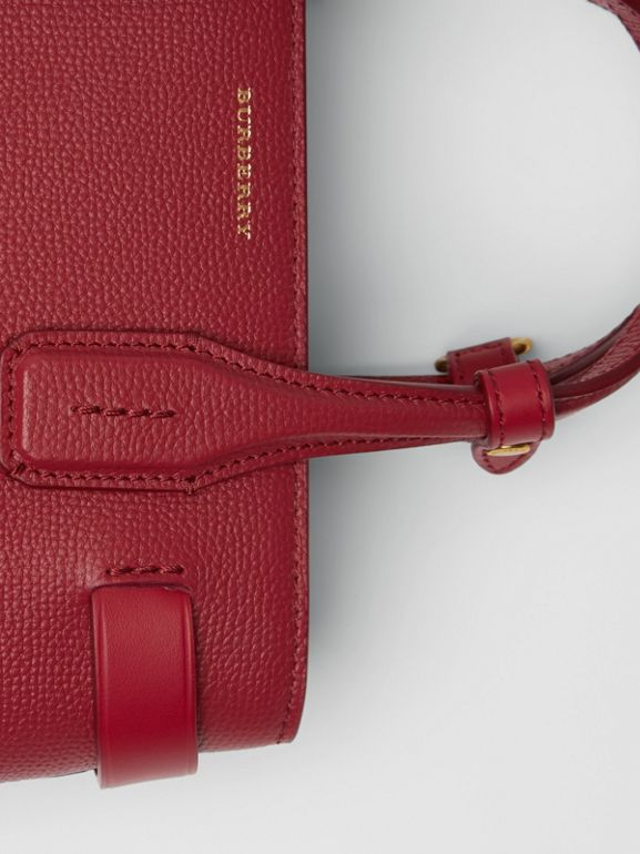 The Small Banner in Grainy Leather in Crimson - Women | Burberry United Kingdom - cell image 1