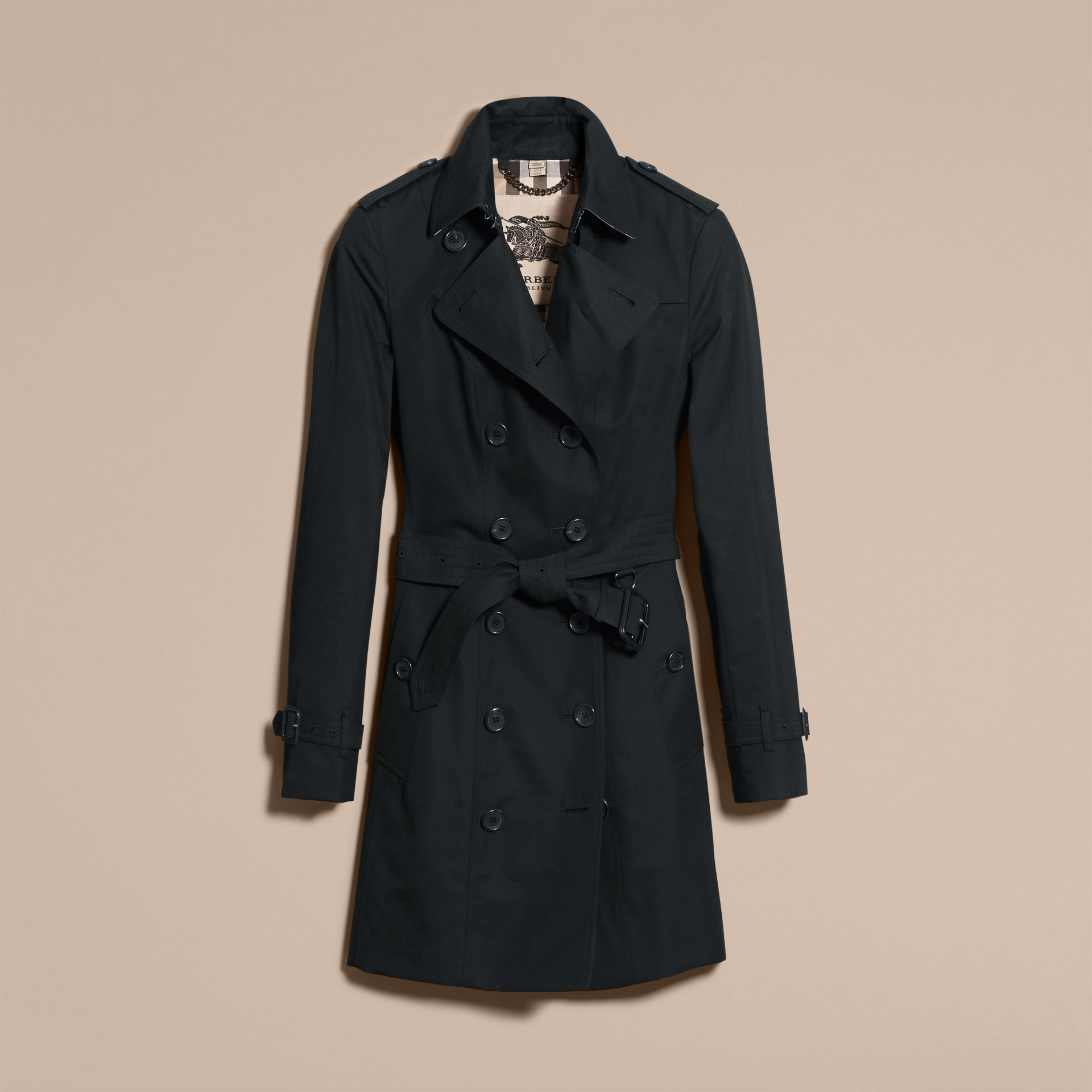Black The Sandringham – Mid-Length Heritage Trench Coat Black - gallery image 4