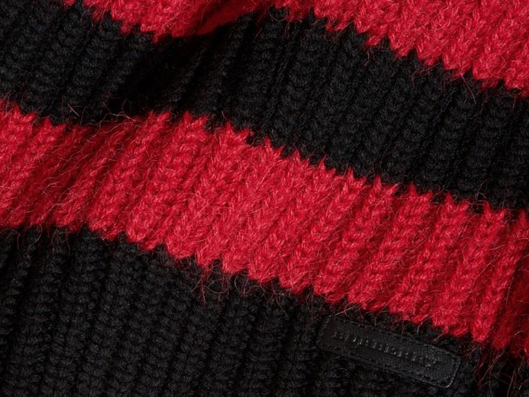 Rouge parade Pull rayé en laine mérinos et laine d'alpaga mélangées - cell image 1