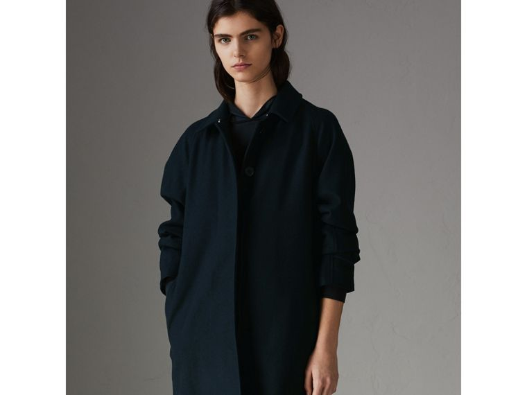 Cashmere Car Coat in Navy - Women | Burberry - cell image 4