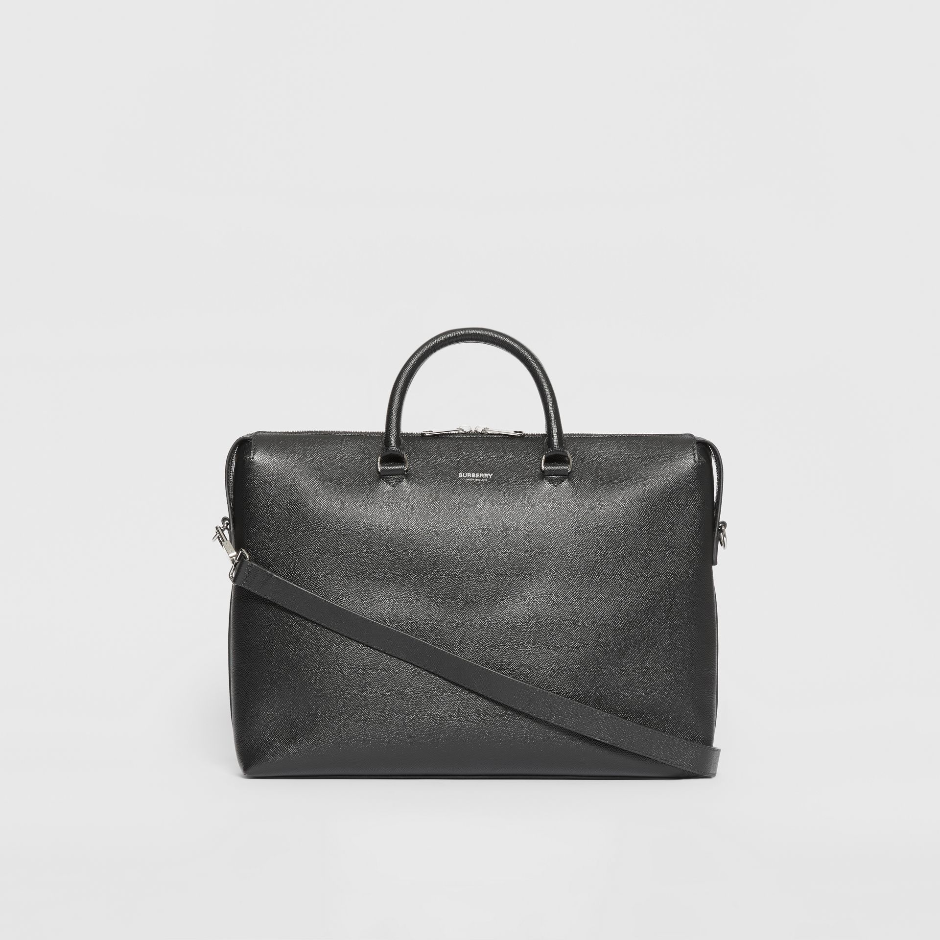Triple Stud Grainy Leather Briefcase in Black - Men | Burberry Singapore - gallery image 7