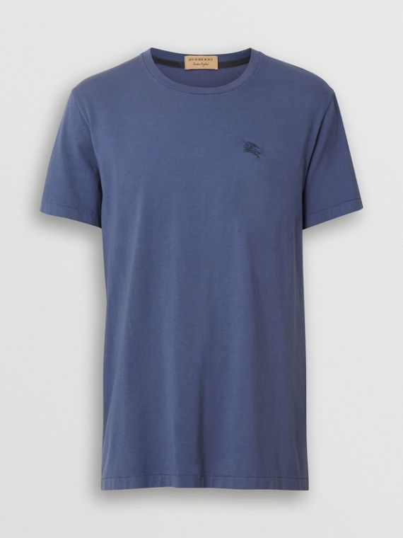 Cotton T-shirt in Pebble Blue