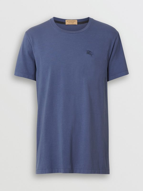 Cotton T-shirt in Pebble Blue - Men | Burberry - cell image 3
