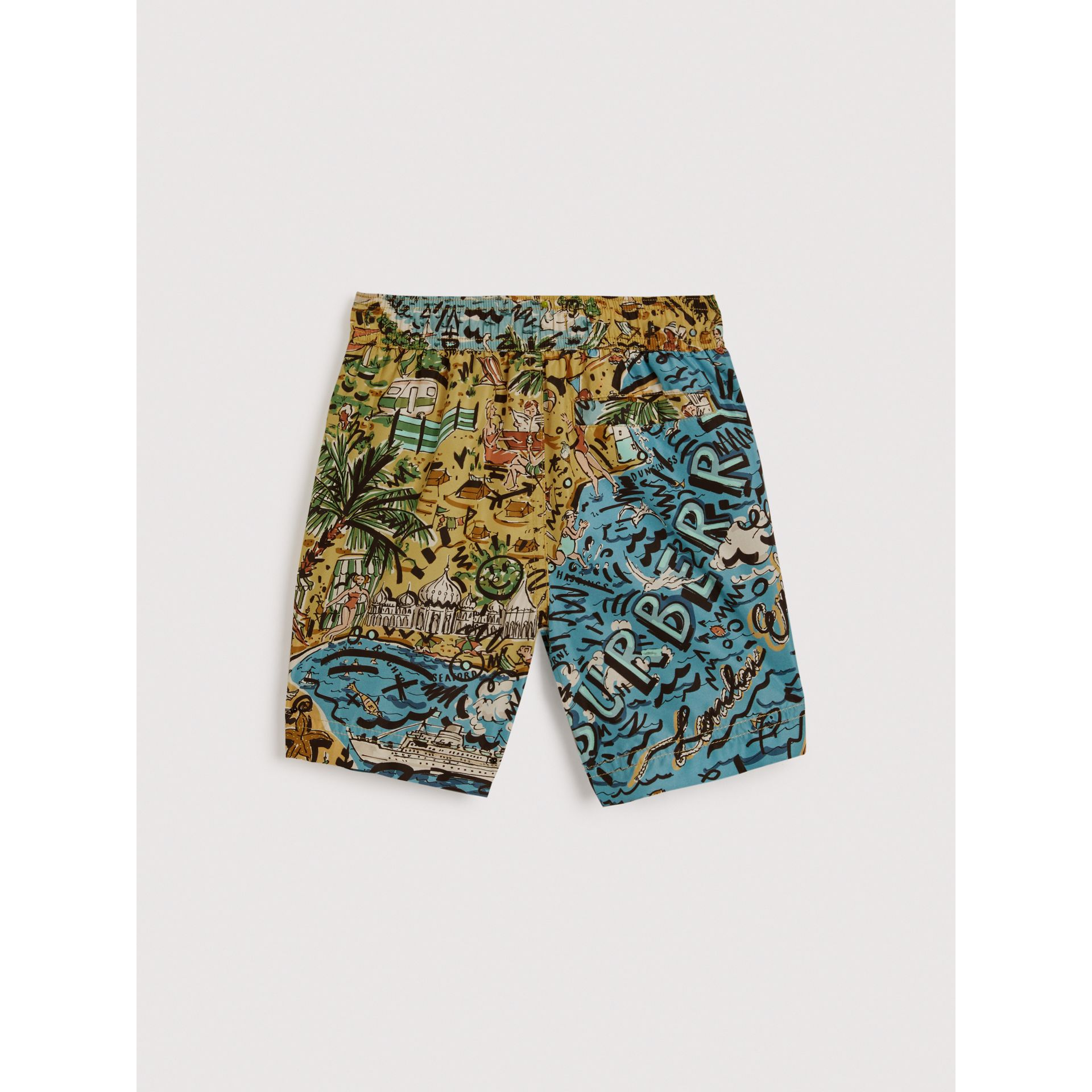 Seaside Print Swim Shorts in Sand - Boy | Burberry - gallery image 3