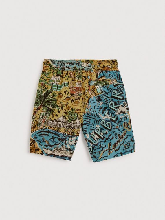 Seaside Print Swim Shorts in Sand - Boy | Burberry Canada - cell image 3