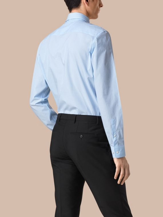 City blue Modern Fit Gingham Cotton Poplin Shirt City Blue - cell image 2