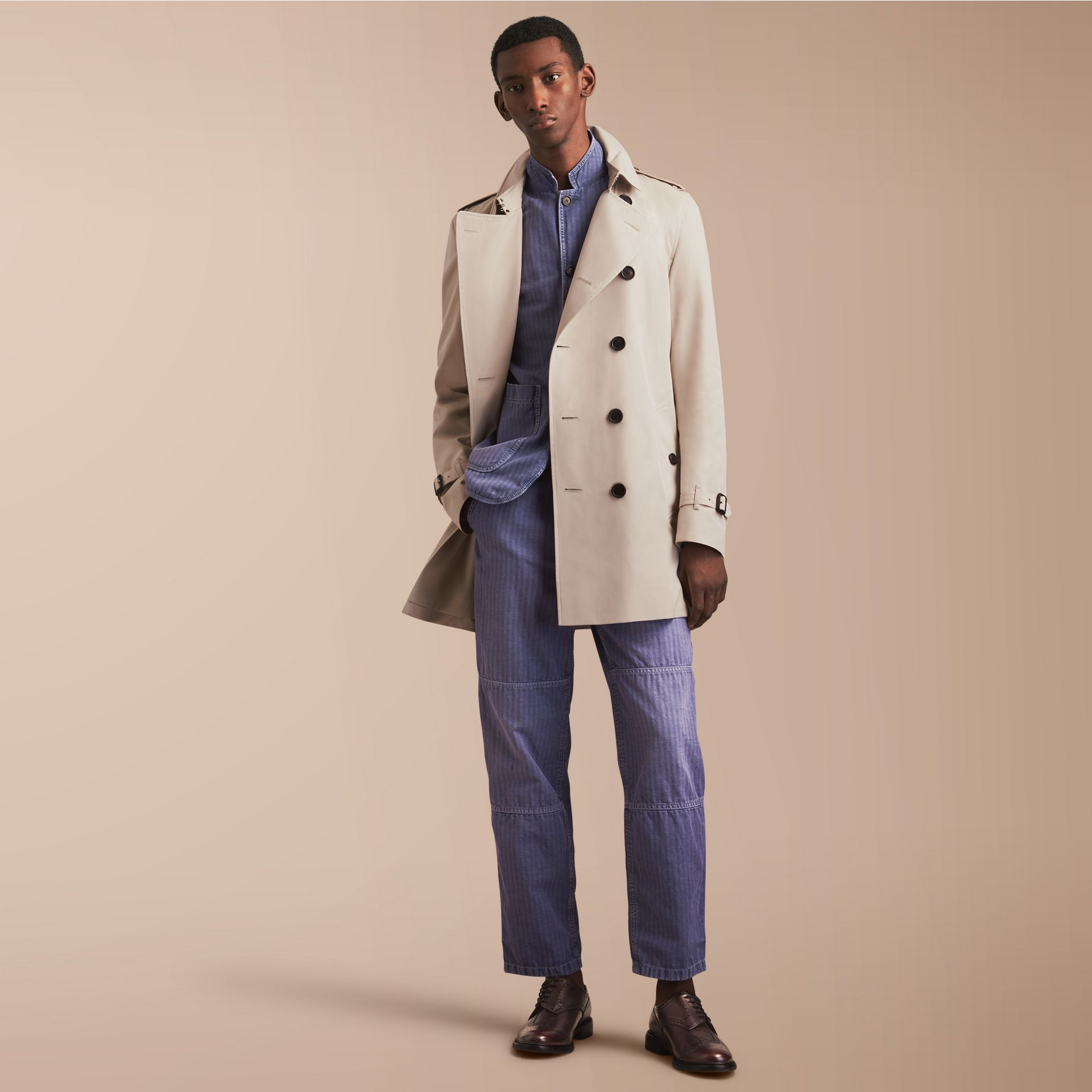 The Kensington – Mid-Length Heritage Trench Coat in Stone - gallery image 1