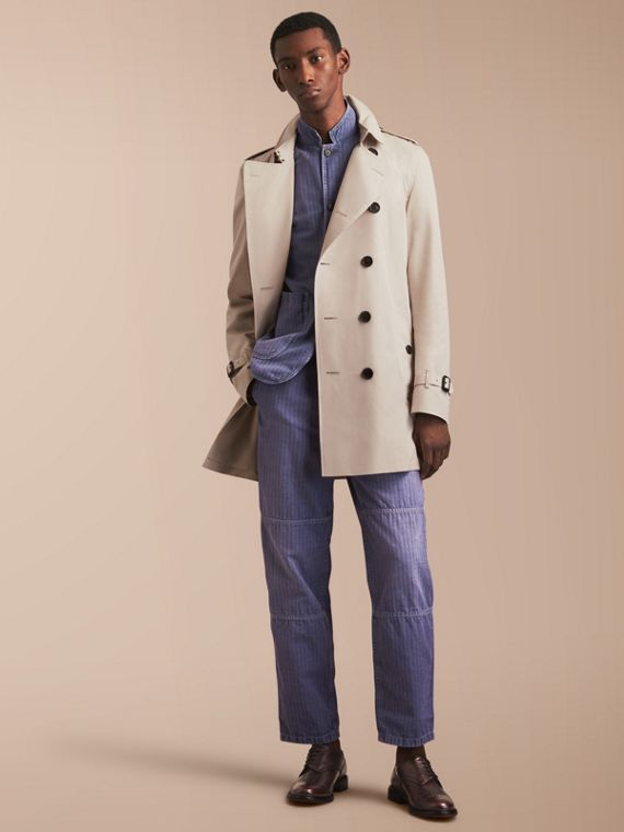 The Kensington – Mid-Length Heritage Trench Coat Stone