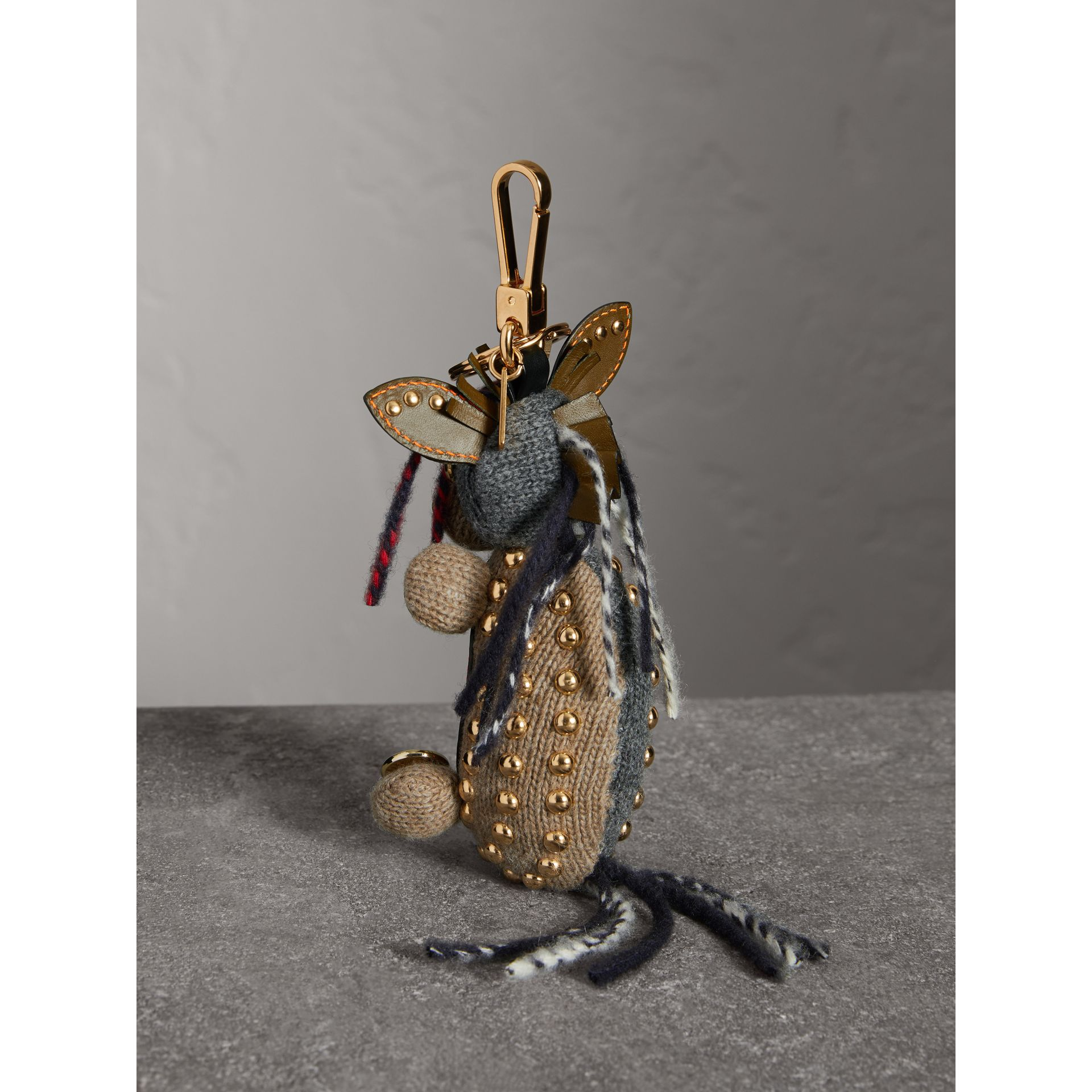 Mabel The Donkey Wool Charm in Sand Multicolour | Burberry - gallery image 3