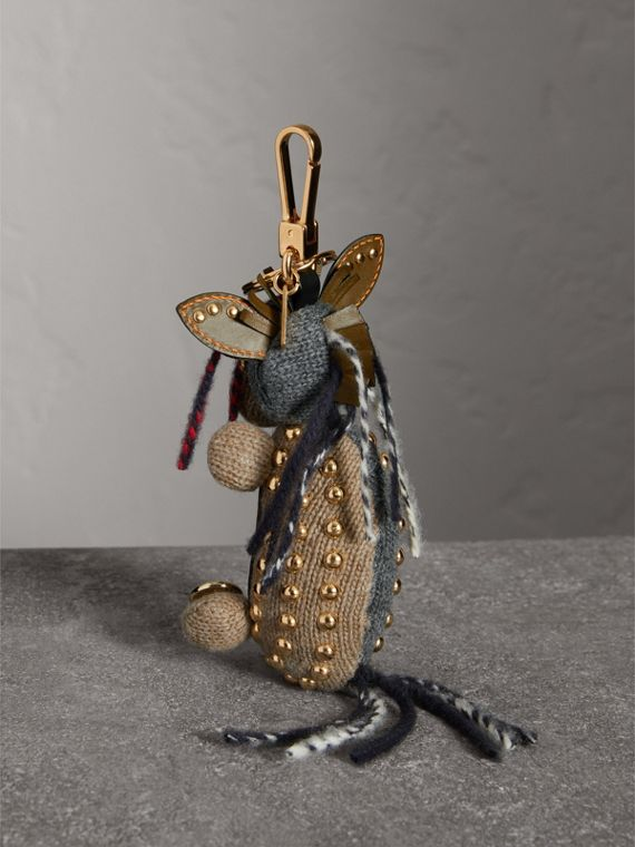 Mabel The Donkey Wool Charm in Sand Multicolour | Burberry - cell image 3