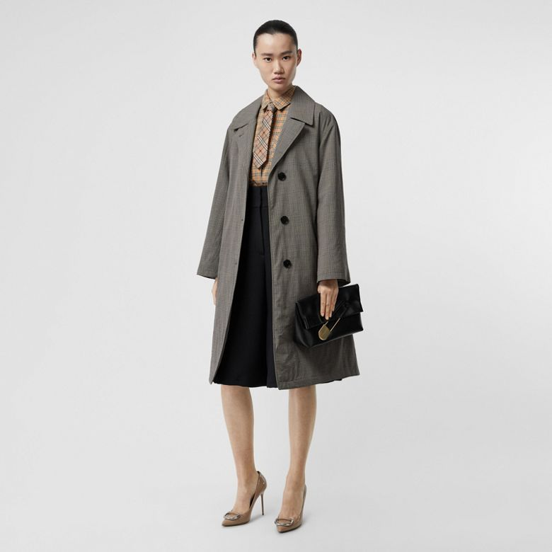 Burberry - Jupe-culotte large en soie et laine - 5