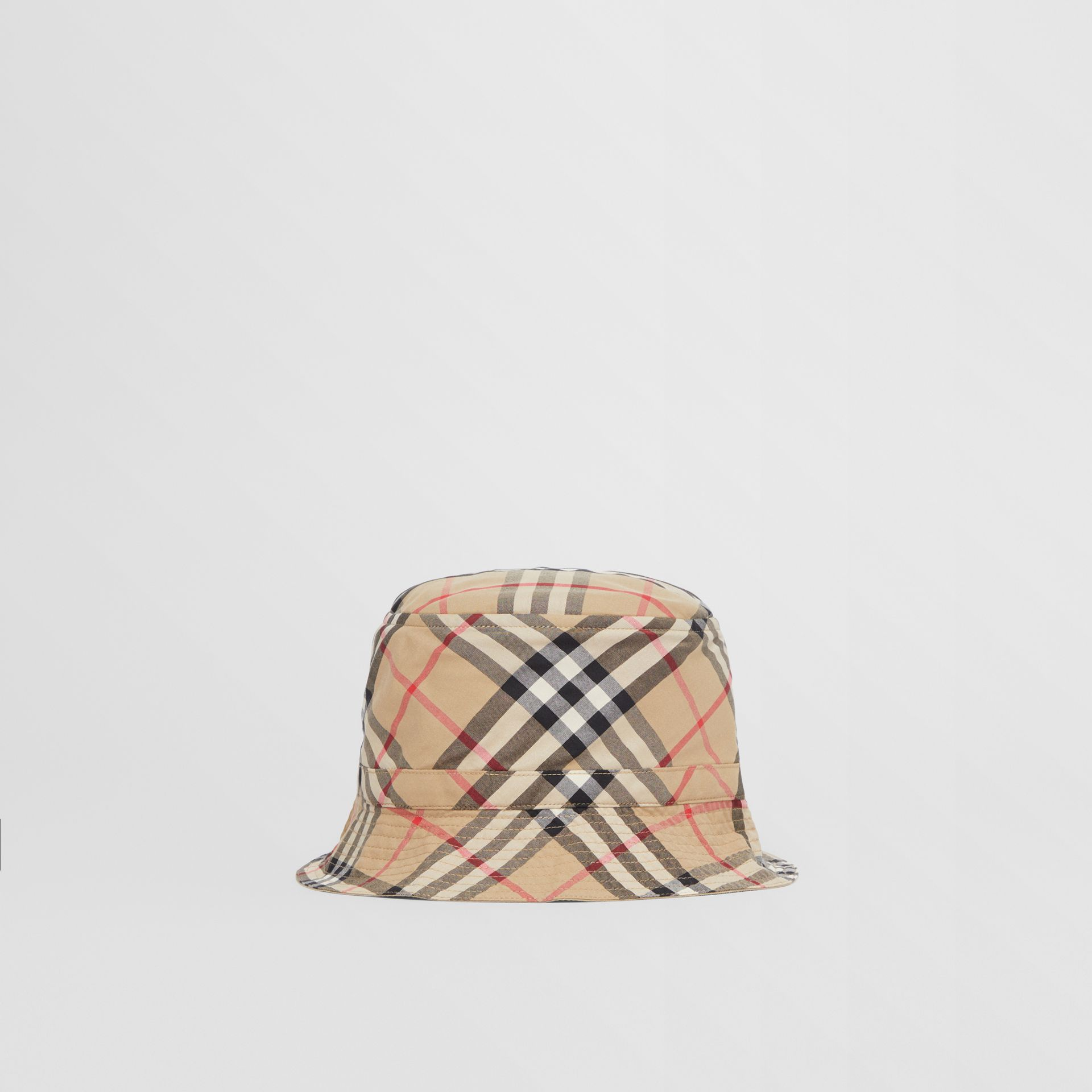 Vintage Check Cotton Bucket Hat in Archive Beige - Children | Burberry United Kingdom - gallery image 0