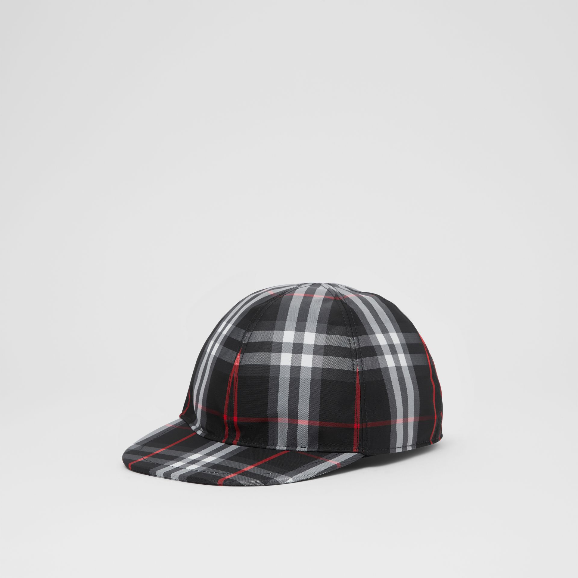 Check Baseball Cap in Black - Children | Burberry - gallery image 3