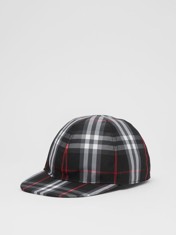 Check Baseball Cap in Black - Children | Burberry - cell image 3