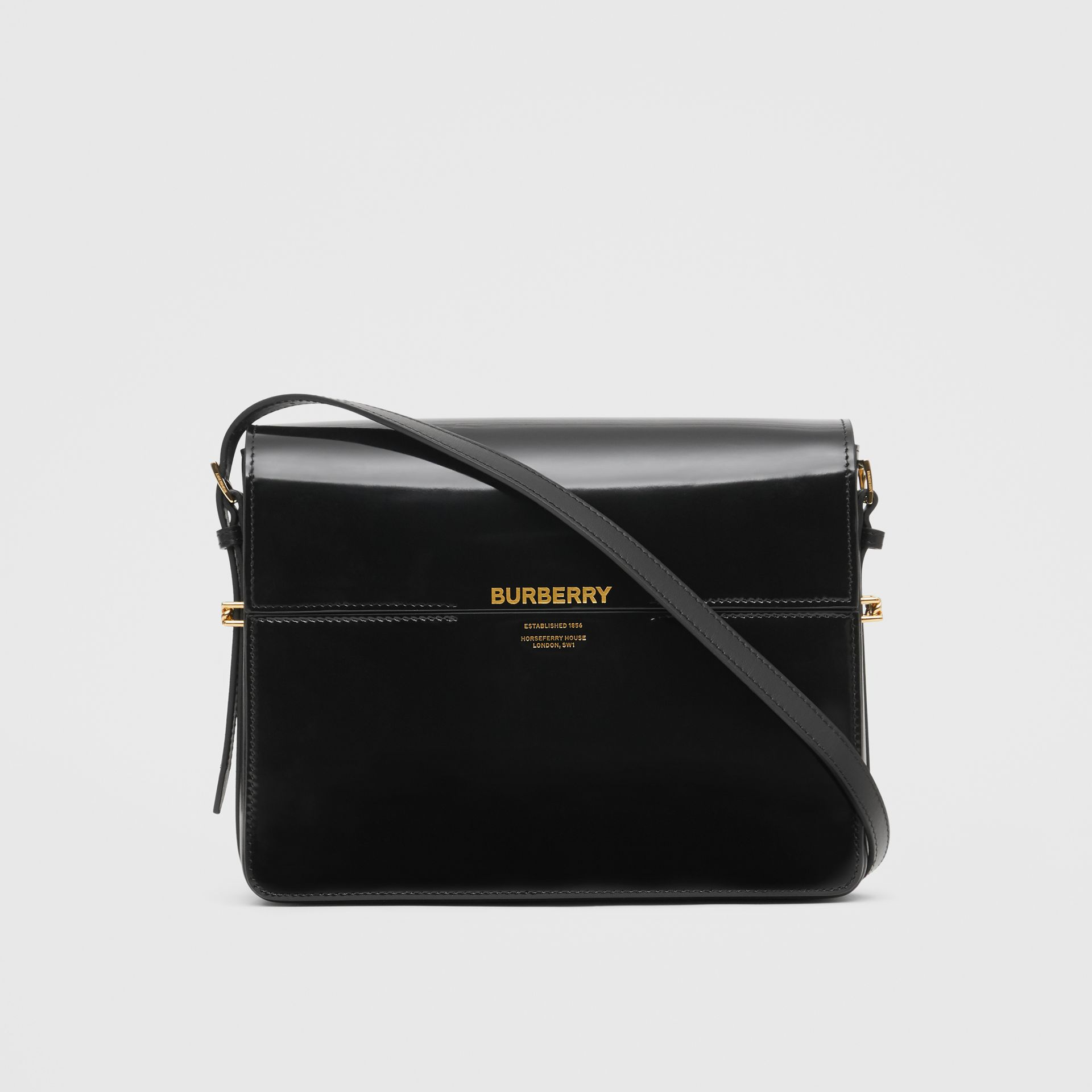 Large Patent Leather Grace Bag in Black - Women | Burberry - gallery image 0