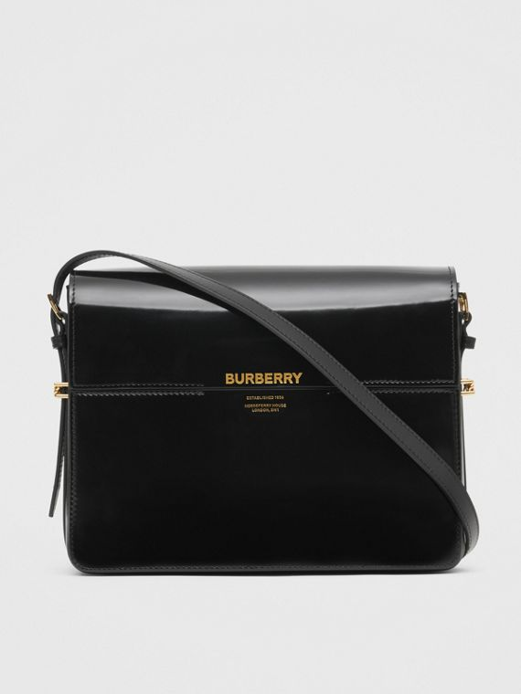065734f94272 Large Patent Leather Grace Bag in Black