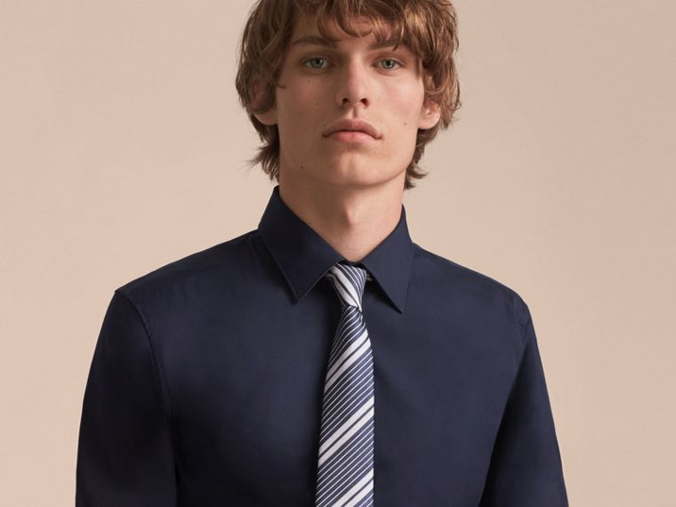 Modern Cut Striped Silk Cotton Jacquard Tie - Men | Burberry - cell image 2
