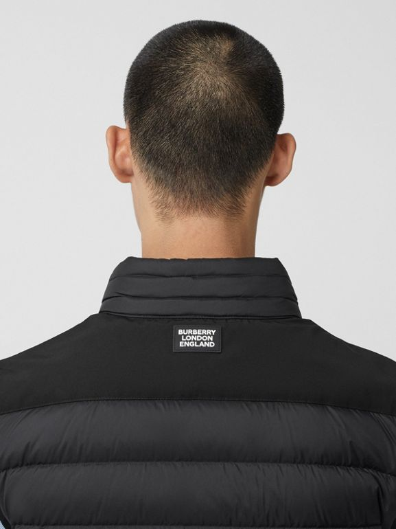 Logo Graphic Puffer Gilet in Black - Men | Burberry - cell image 1