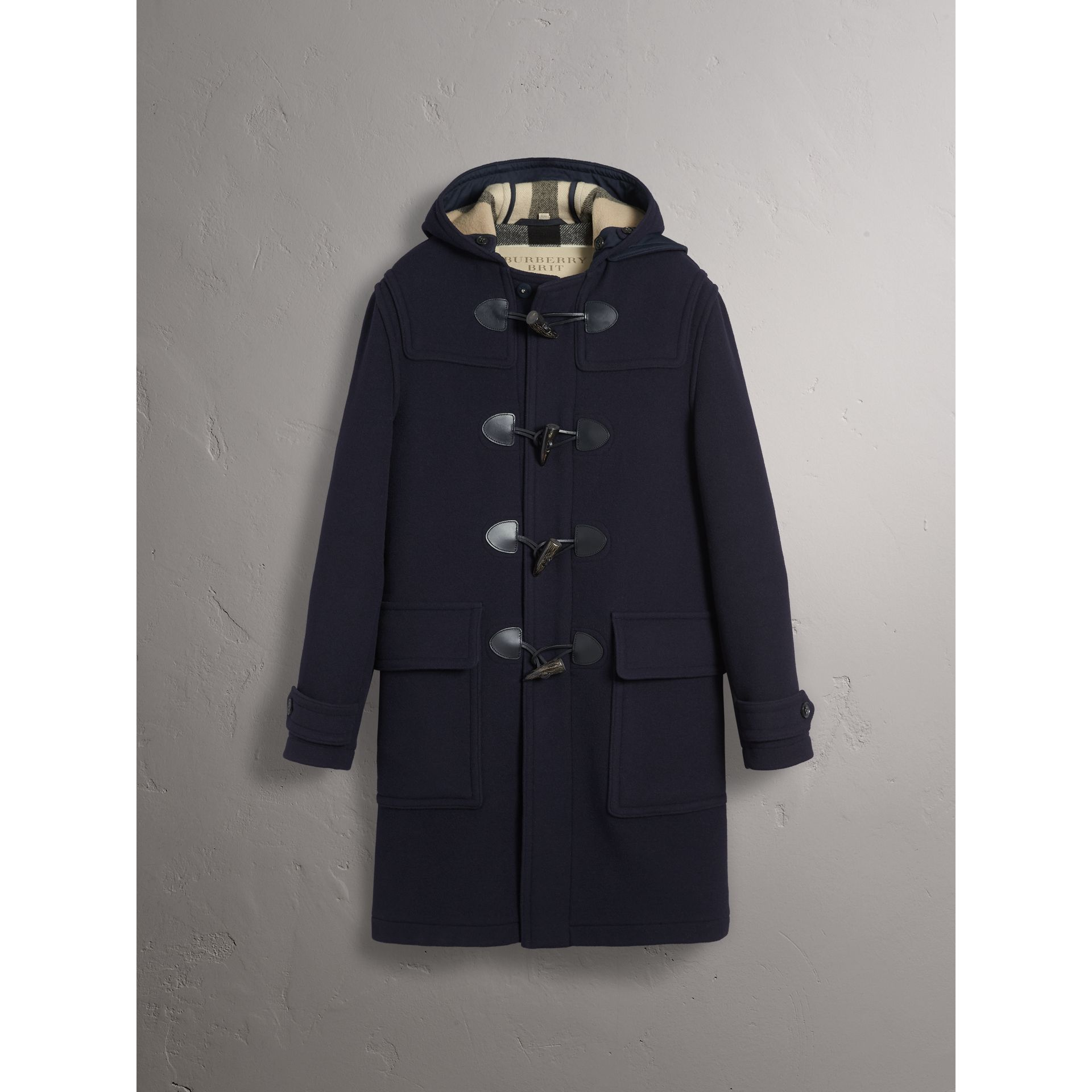 Wool-Blend Duffle Coat in Navy - Men | Burberry - gallery image 4