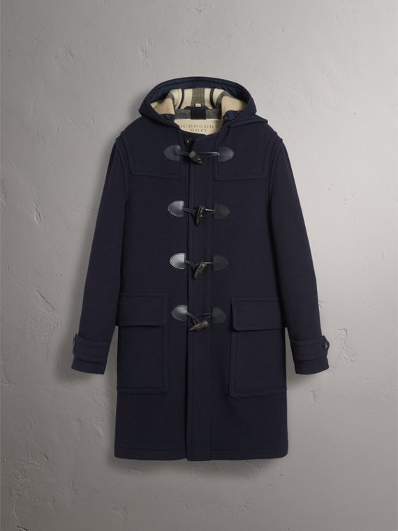 Wool-Blend Duffle Coat in Navy - Men | Burberry - cell image 3