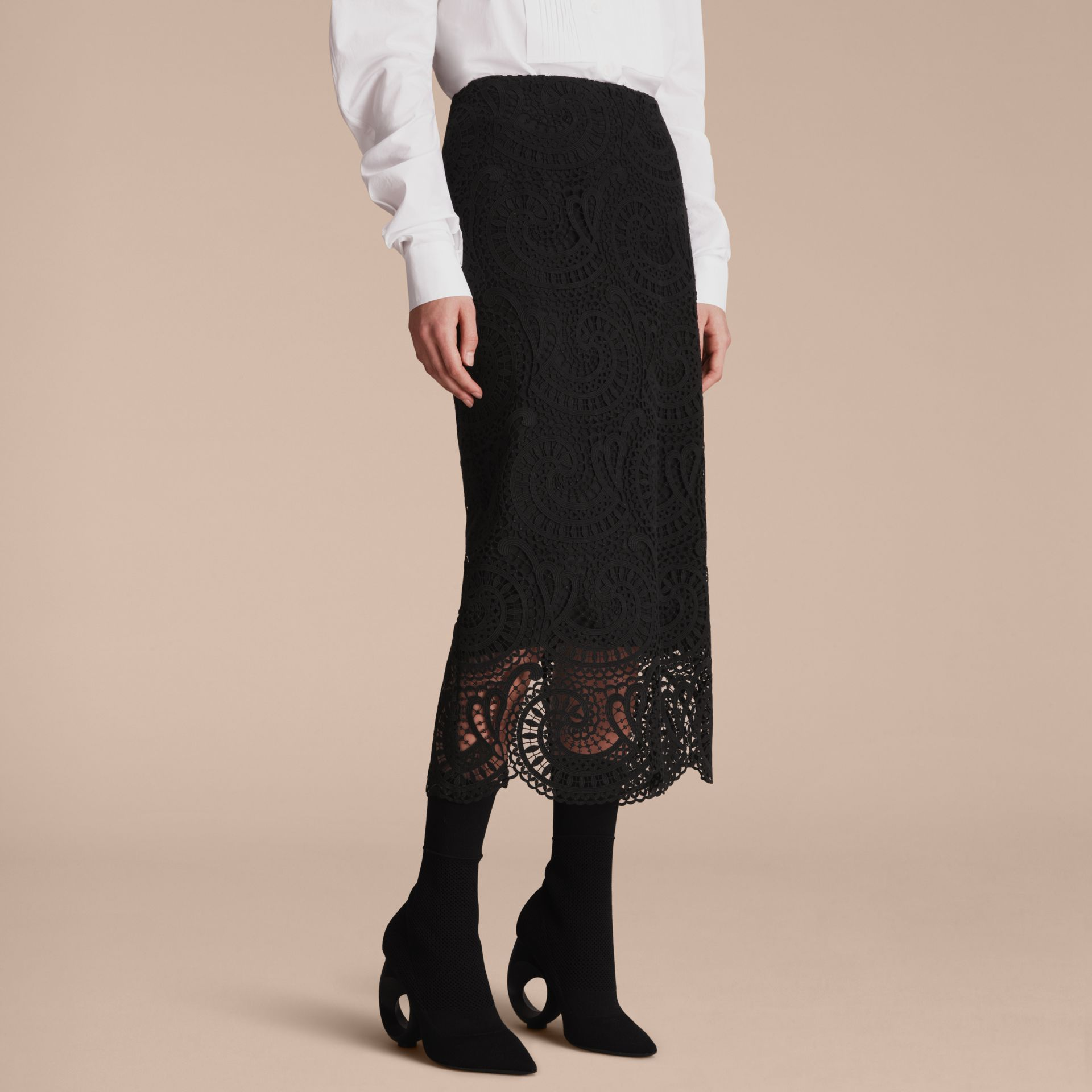 Macramé Lace Skirt - Women | Burberry - gallery image 7