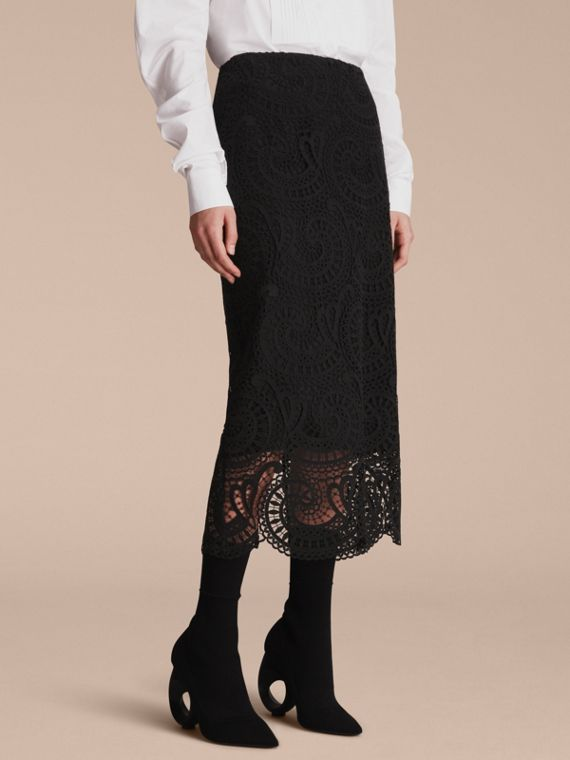 Macramé Lace Skirt - Women | Burberry Singapore