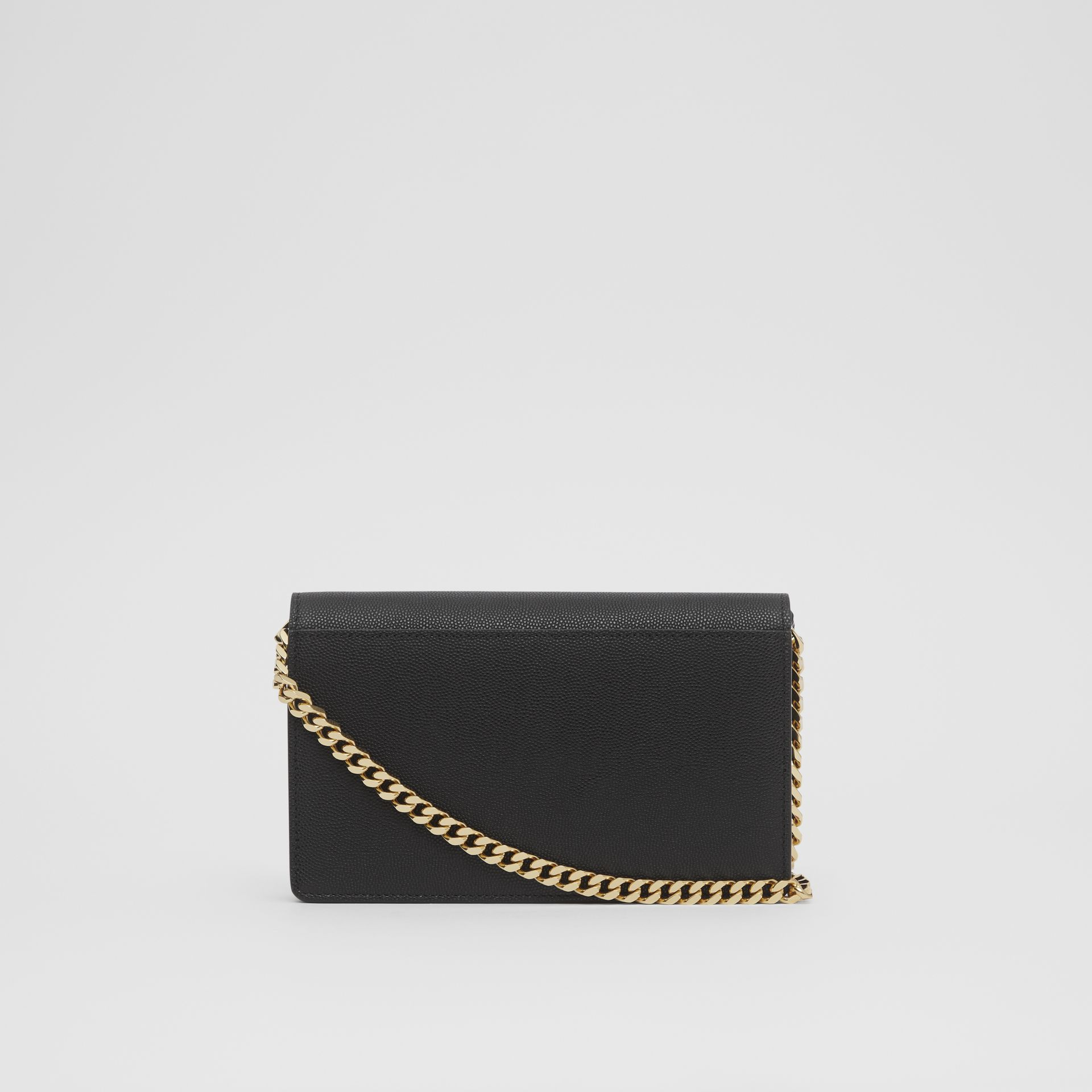 Small Grainy Leather Shoulder Bag in Black - Women | Burberry United Kingdom - gallery image 5