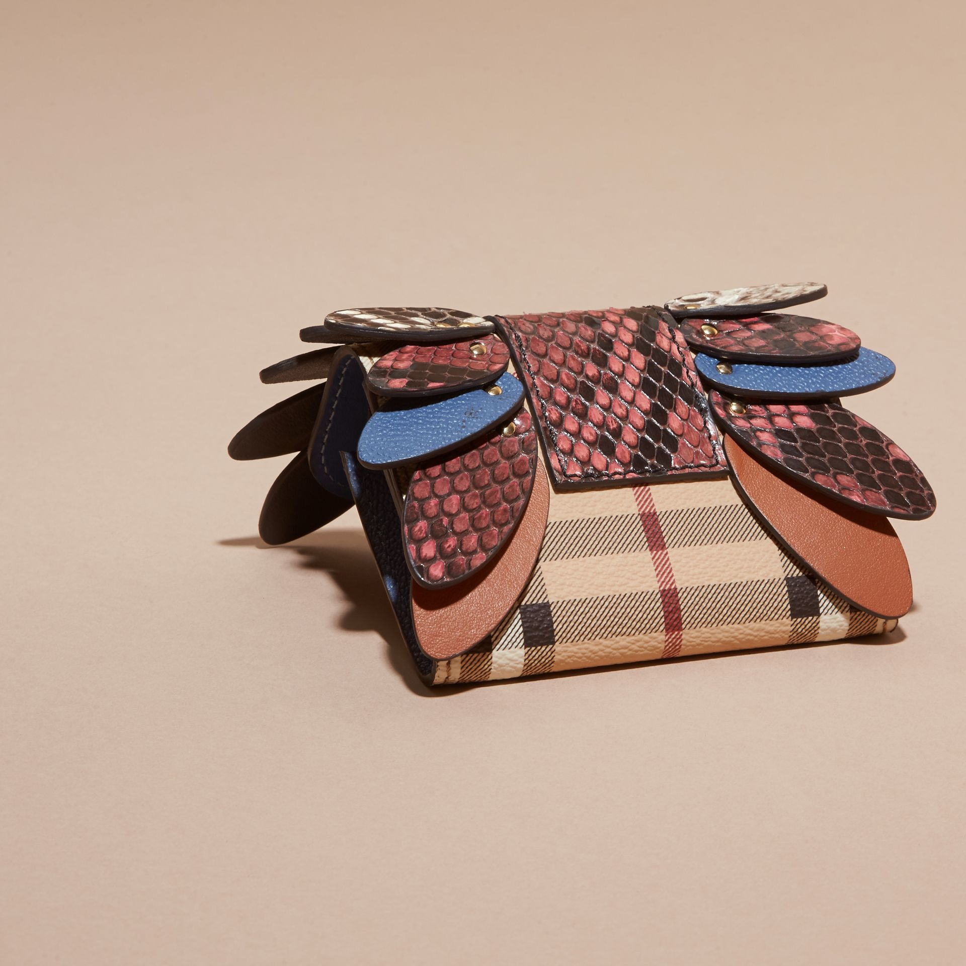 Snakeskin and Leather Haymarket Check Card Case - Women | Burberry - gallery image 4