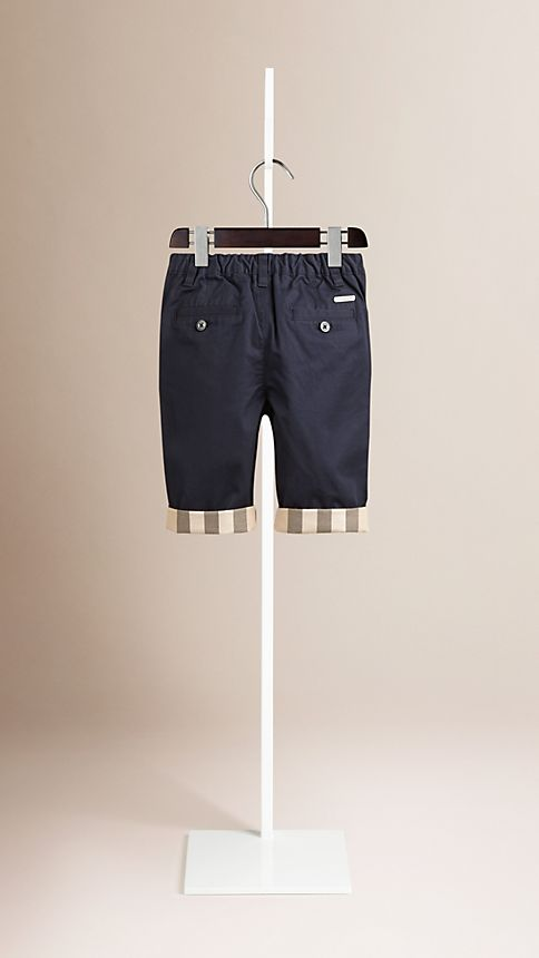 Ink Check Cuff Chinos - Image 2