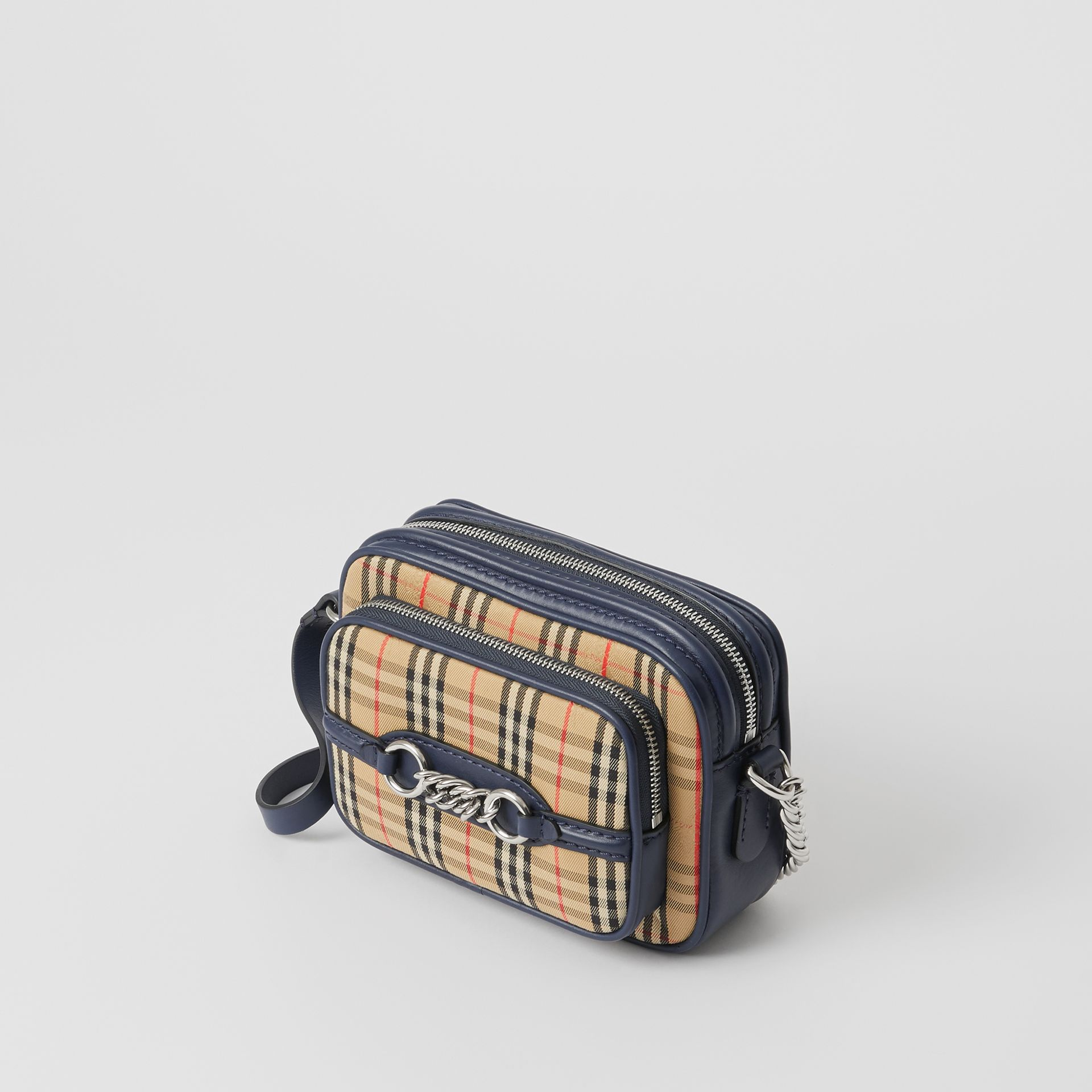 The 1983 Check Link Camera Bag in Ink Blue - Women | Burberry - gallery image 2