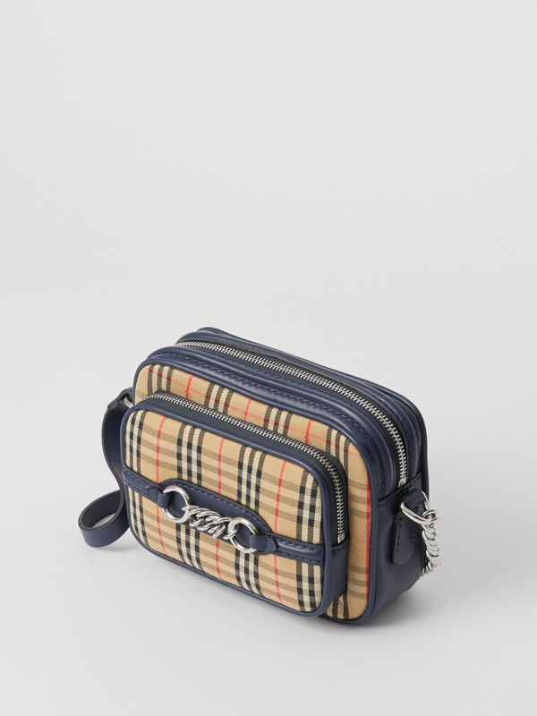 The 1983 Check Link Camera Bag in Ink Blue - Women | Burberry United Kingdom - cell image 2