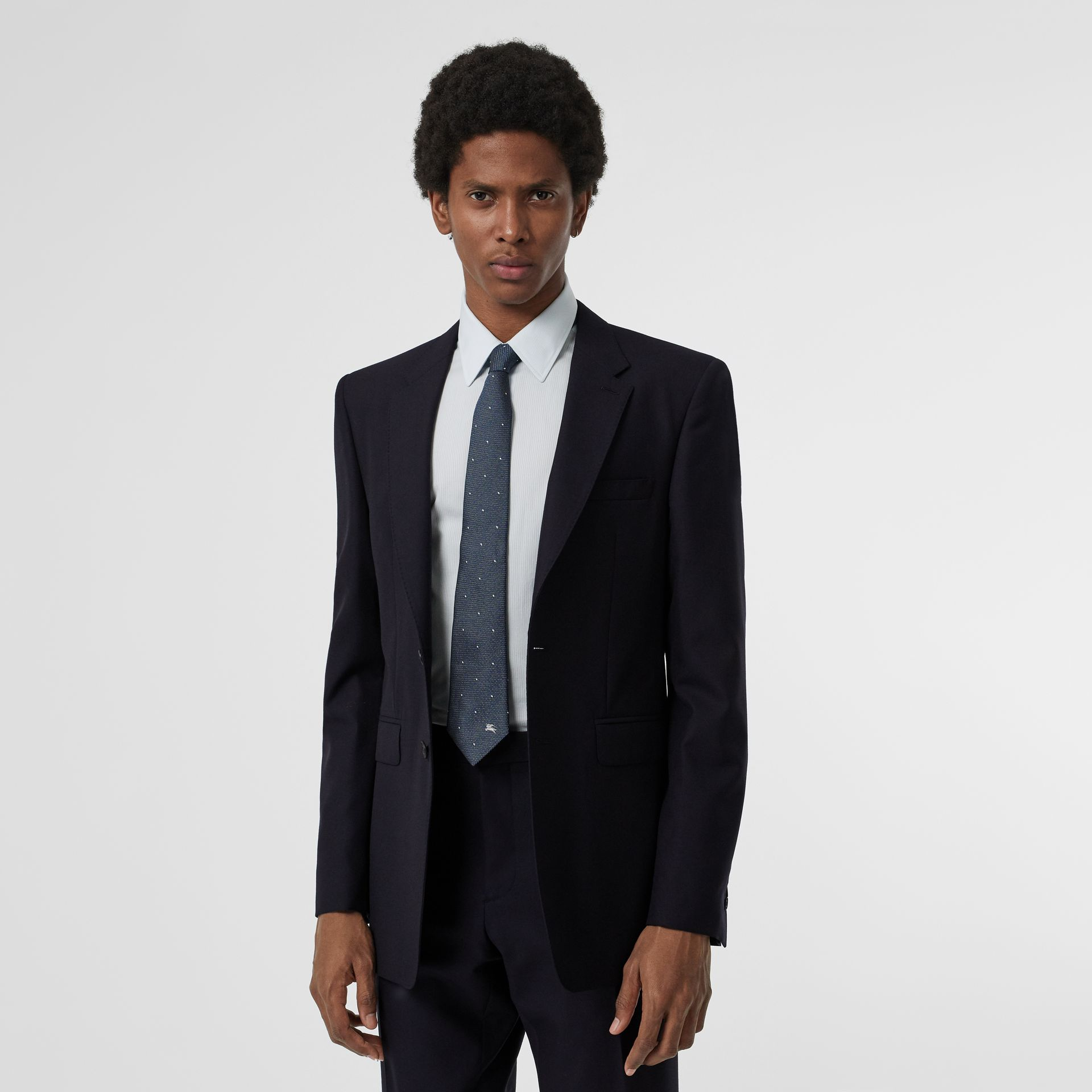 Modern Fit Wool Suit in Navy - Men | Burberry - gallery image 6