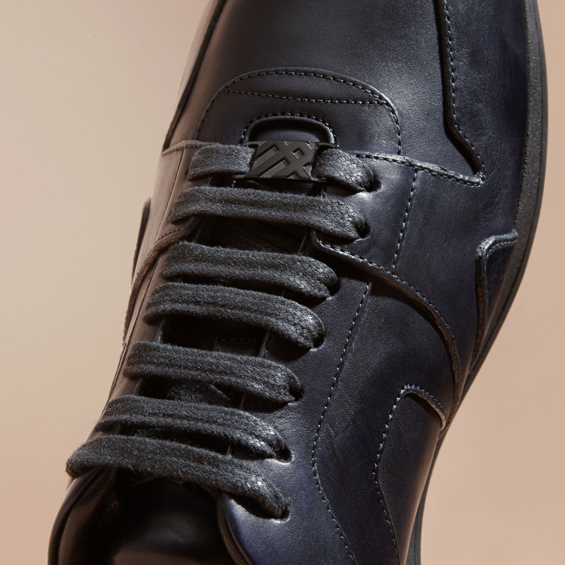 Navy The Field Sneaker in Leather Navy - gallery image 2