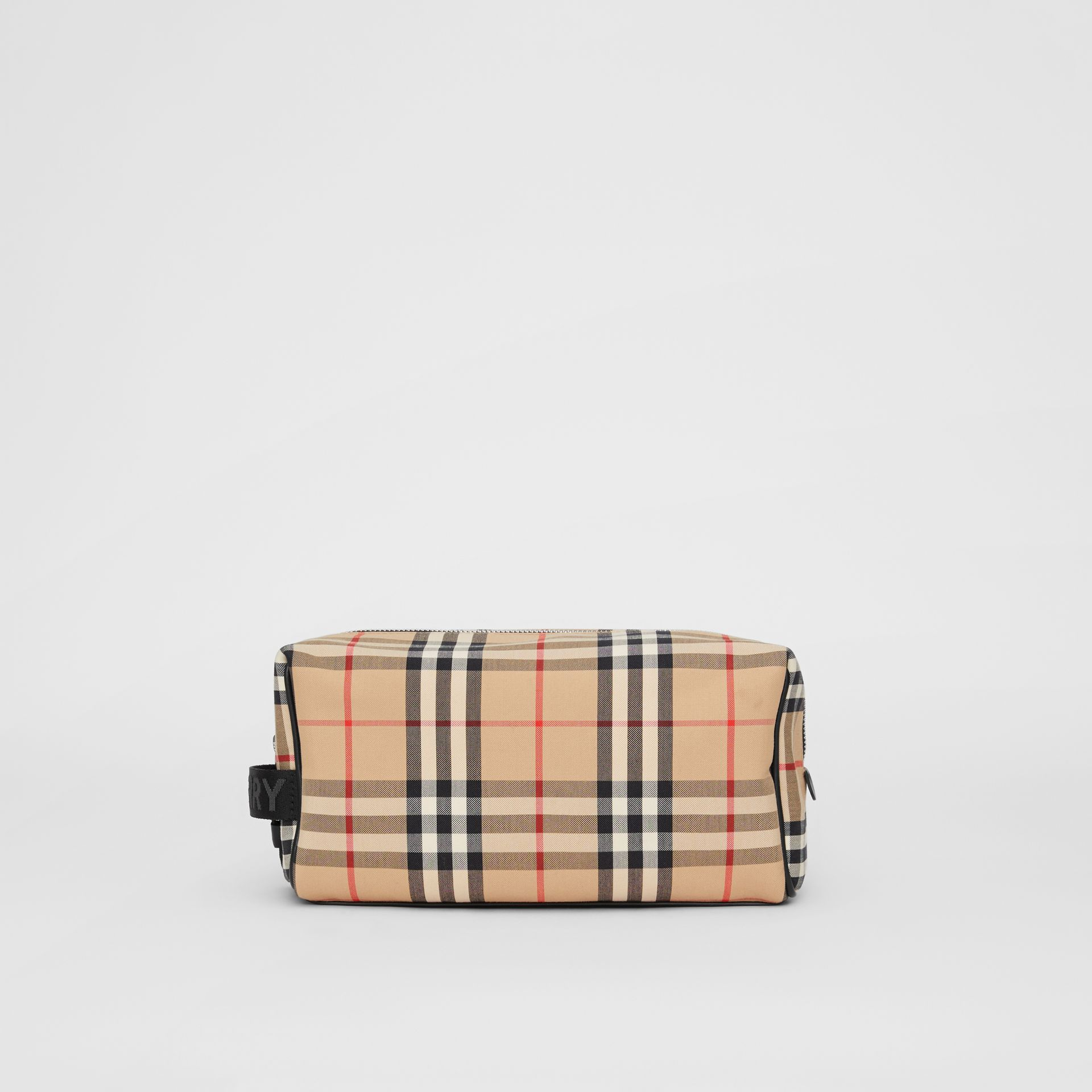 Vintage Check and Leather Pouch in Archive Beige | Burberry Hong Kong S.A.R - gallery image 7