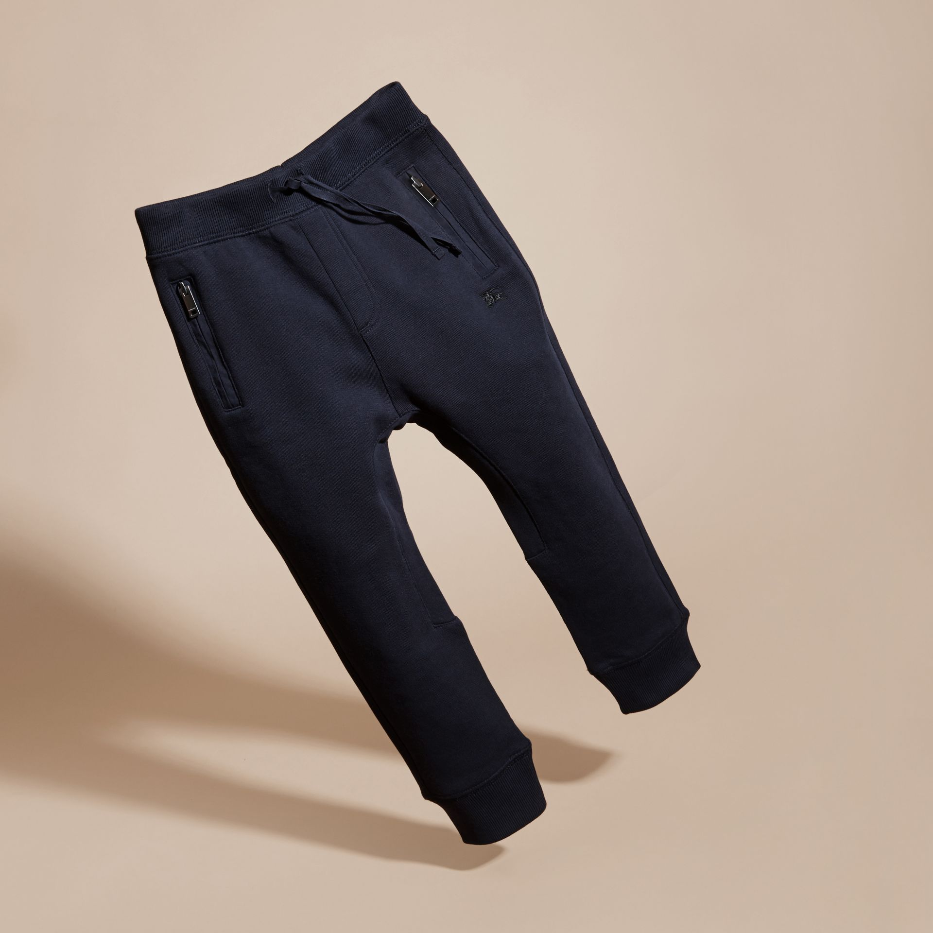 Dark navy Cotton Sweat Pants Dark Navy - gallery image 3