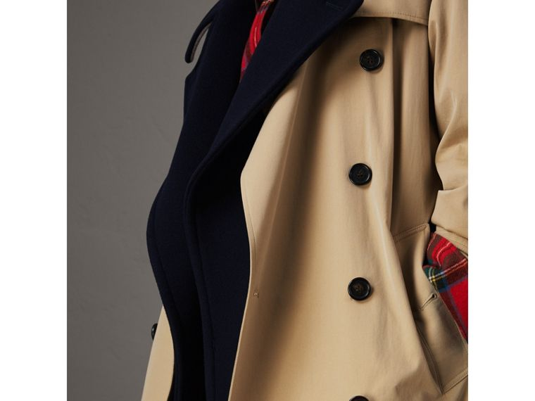 Tropical Gabardine Trench Coat with Detachable Facing in Honey - Women | Burberry - cell image 4