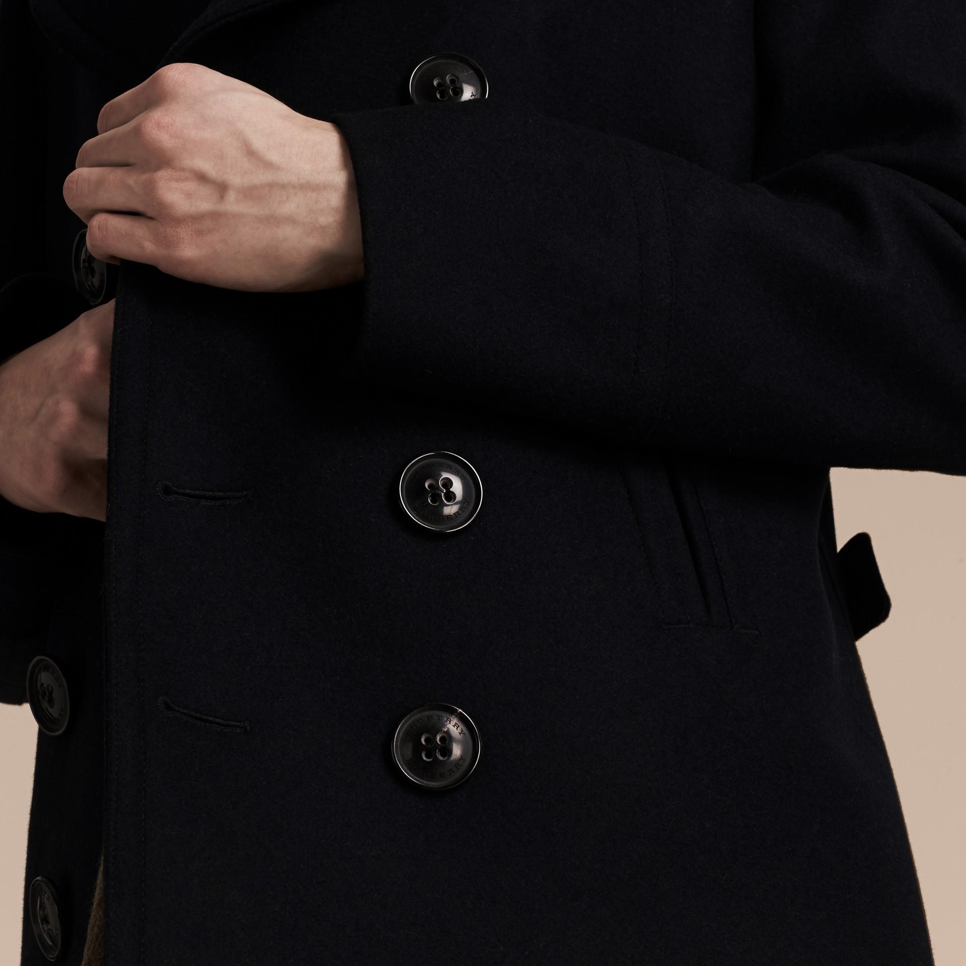 Navy Pea coat in lana e cashmere Navy - immagine della galleria 6